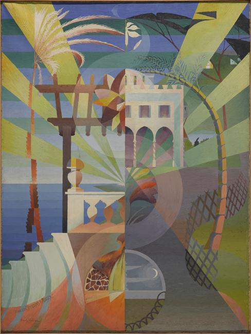 HENRY VALENSI Dans les jardins d'Alger